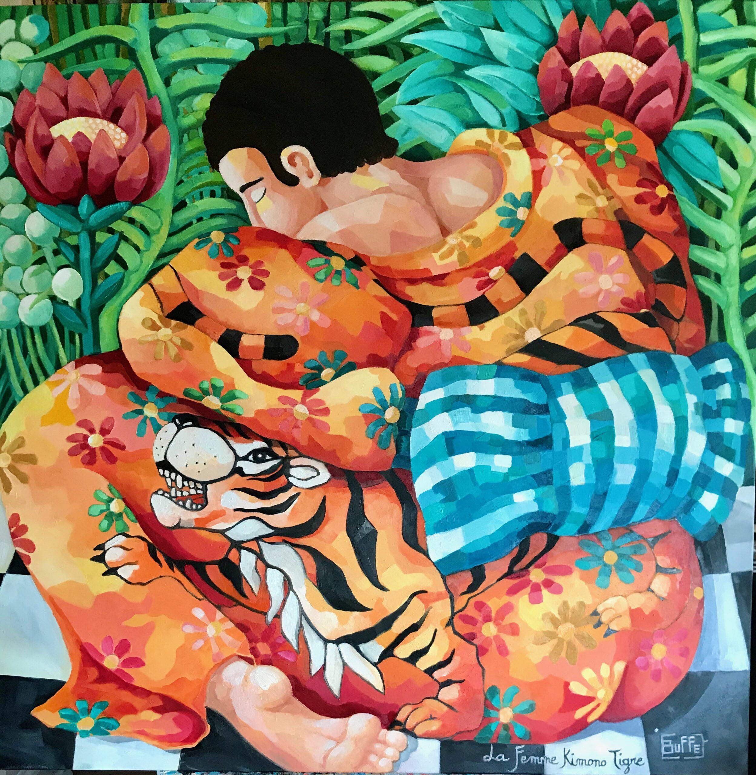 La femme kimono tigre